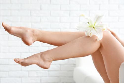 きれいな肌の足